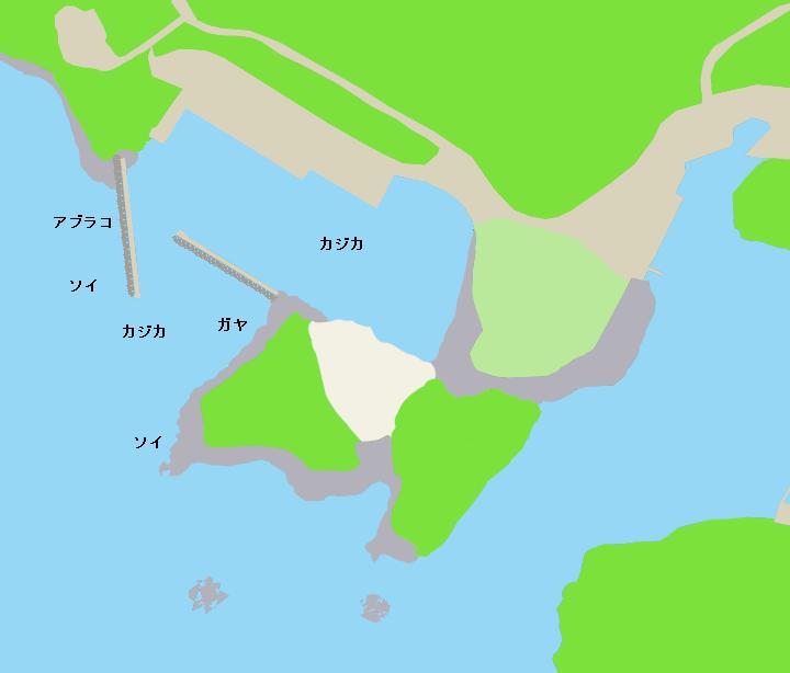 有珠漁港ポイント図