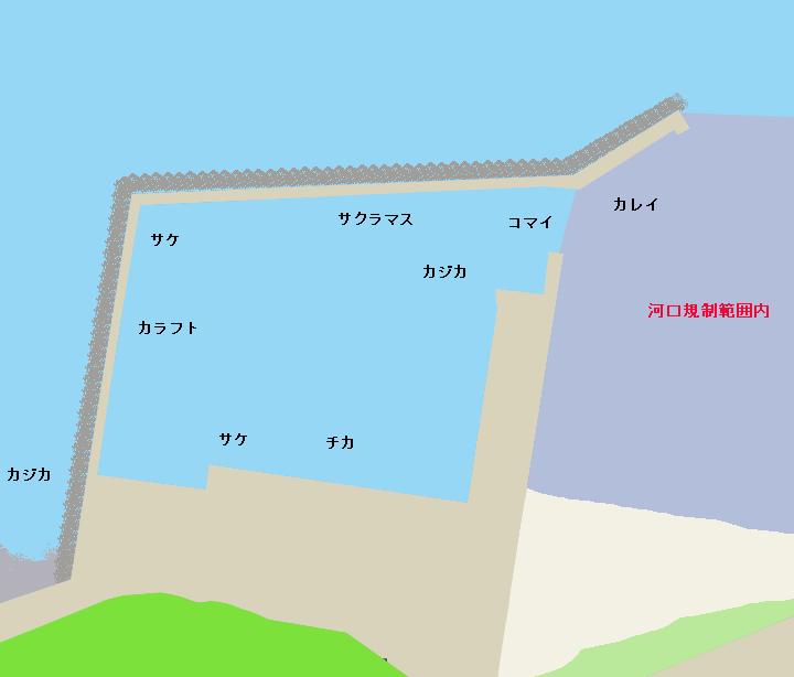 歌別漁港ポイント図