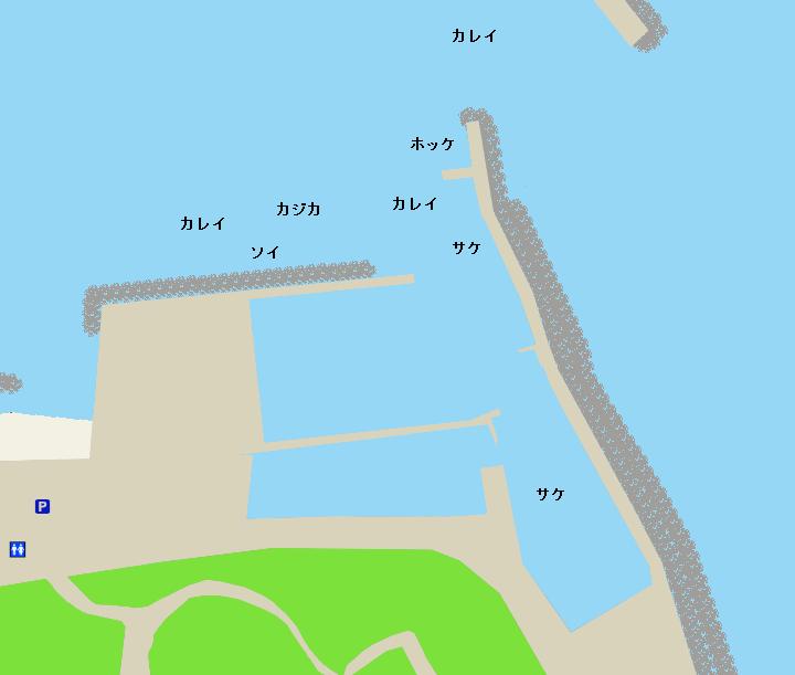 神恵内漁港ポイント図