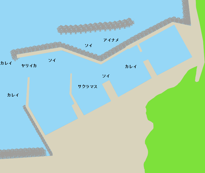 涌元漁港ポイント図