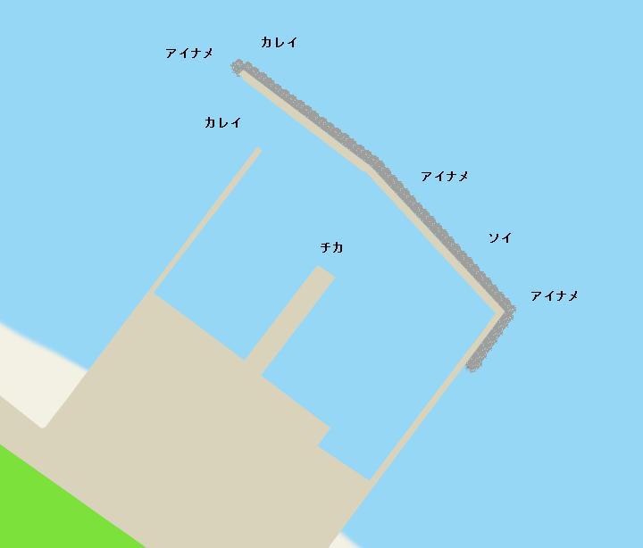 鷲ノ木漁港ポイント図