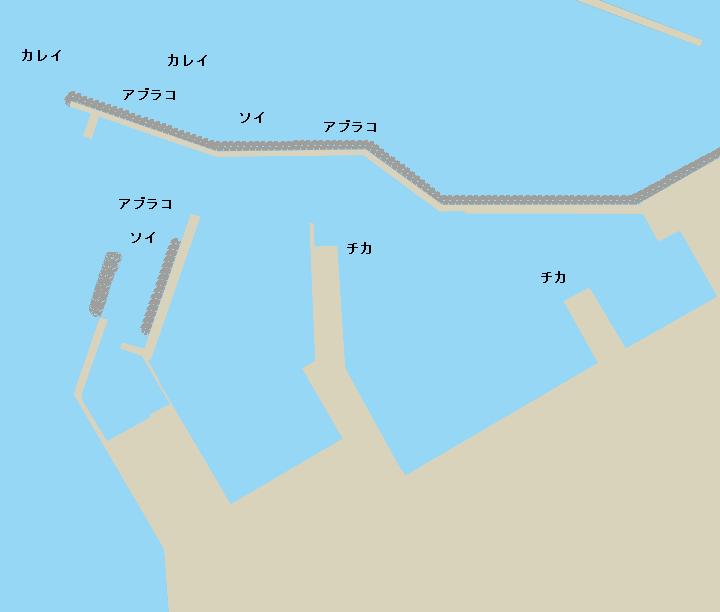 八雲漁港ポイント図