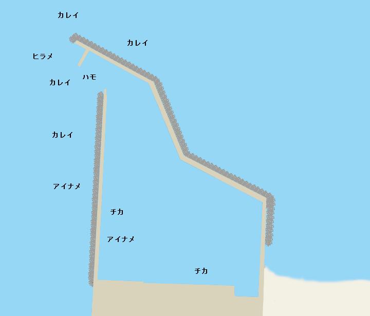 山崎漁港ポイント図