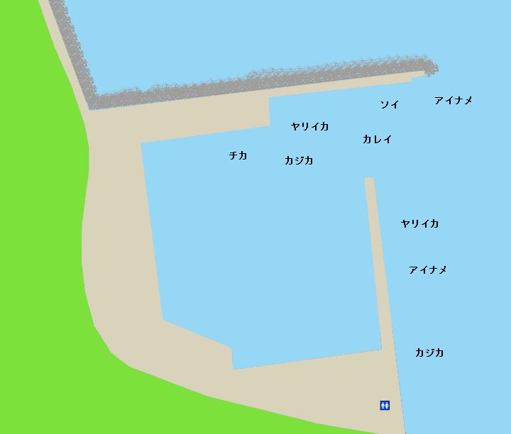 山背泊漁港ポイント図