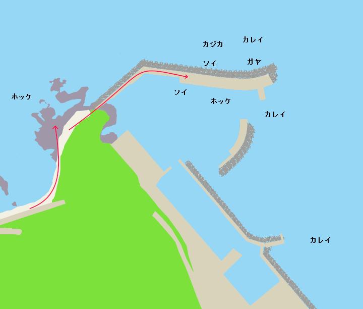 余別漁港ポイント図