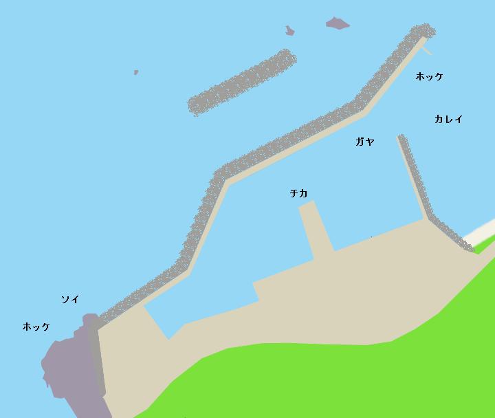 横澗漁港ポイント図