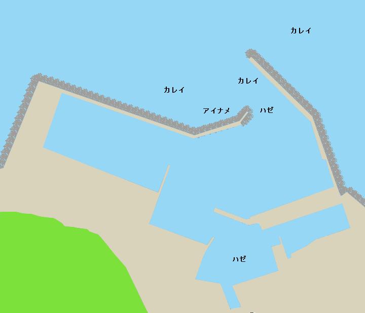 吉岡漁港ポイント図