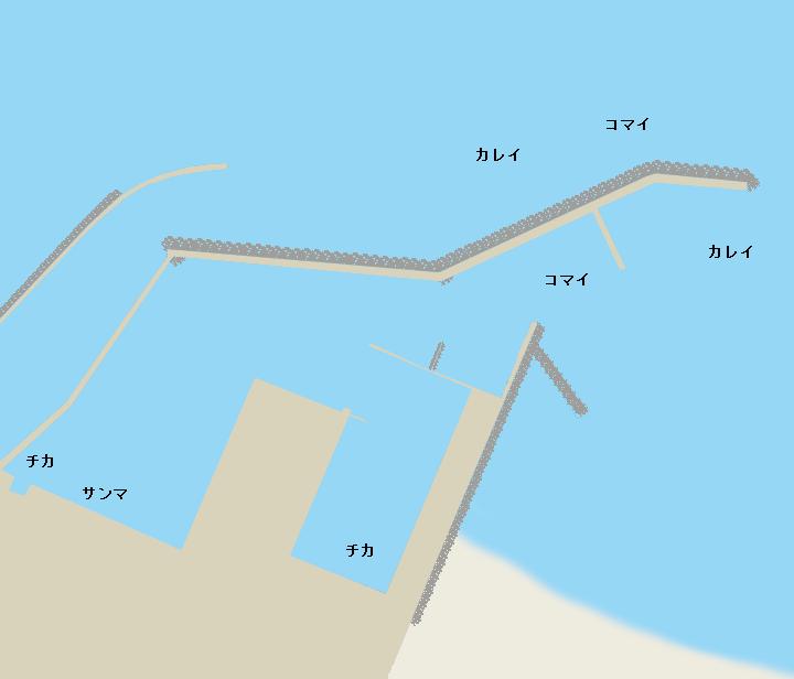 湧別漁港ポイント図