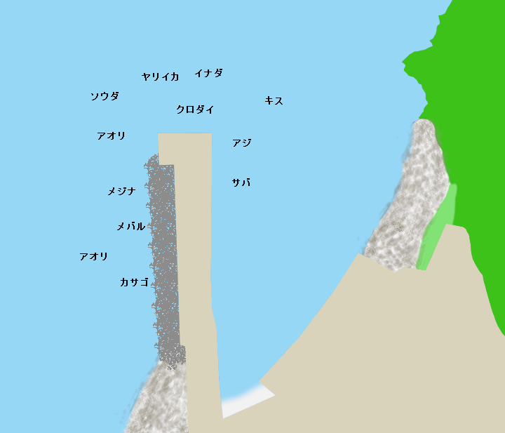 赤沢港ポイント図