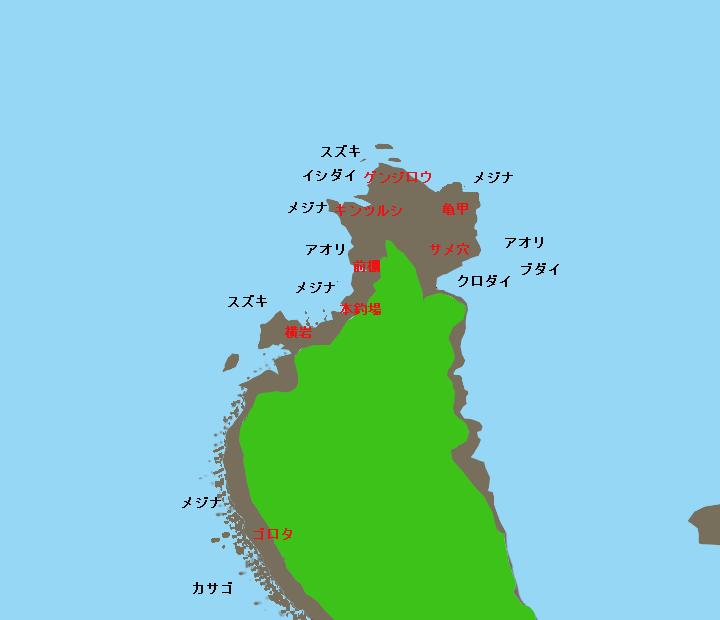 安城岬ポイント図
