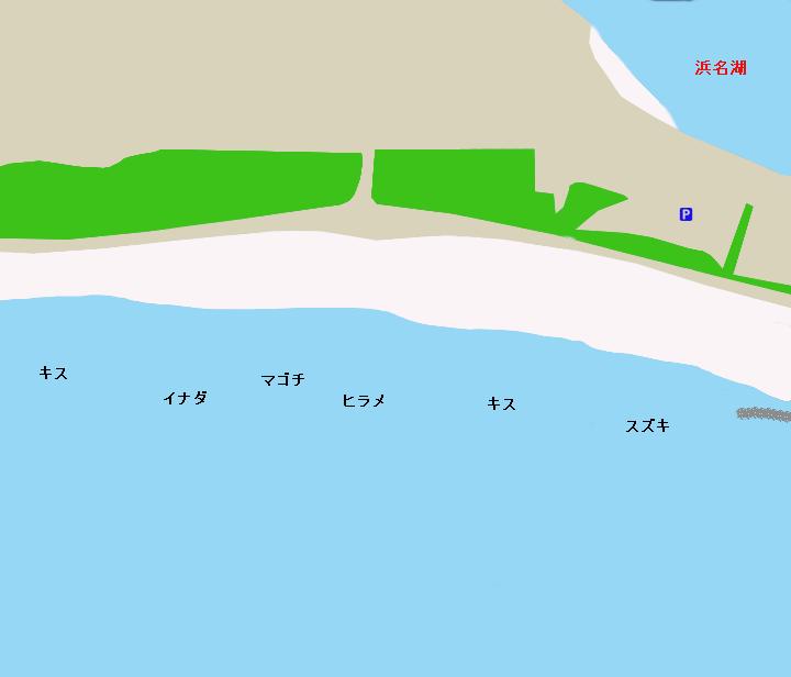 新居海岸ポイント図