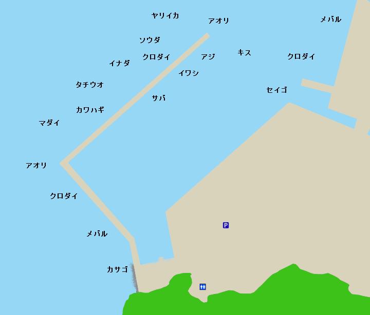 足保港ポイント図