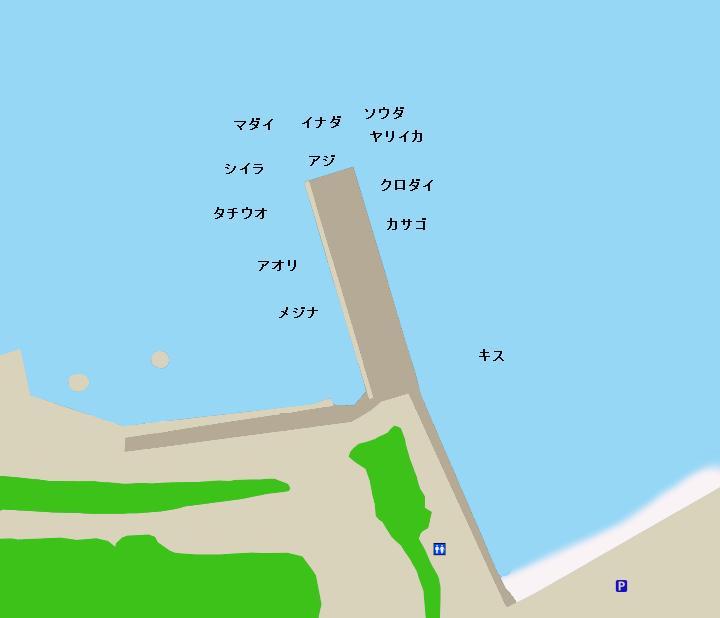 コバルト堤防ポイント図