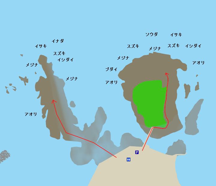 恵比寿島ポイント図