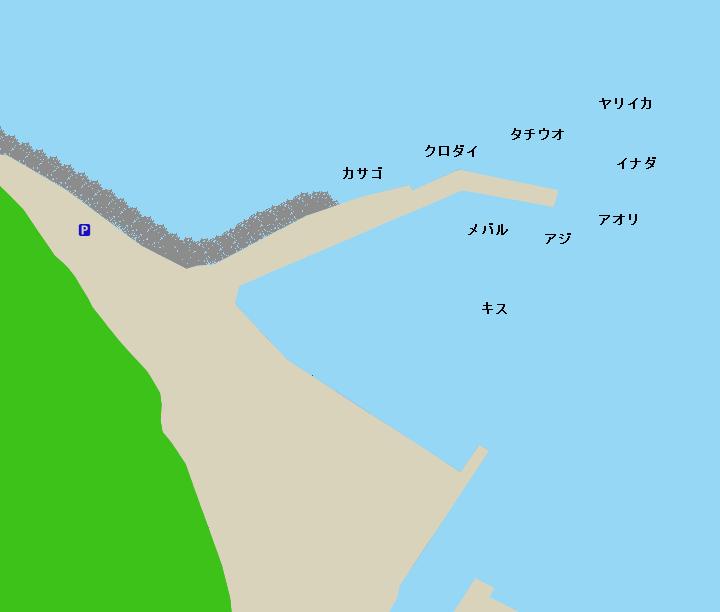 江梨港ポイント図