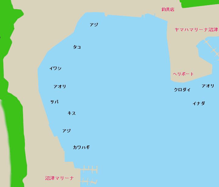 江の浦港(沼津)ポイント図