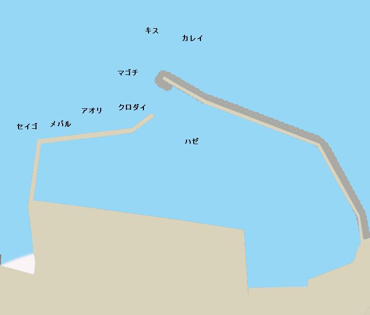 小鈴谷漁港ポイント図