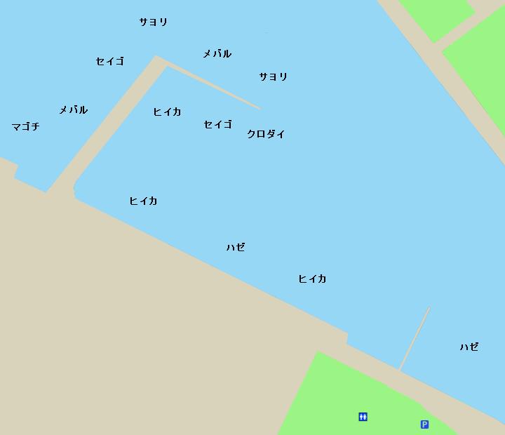 半田港ポイント図