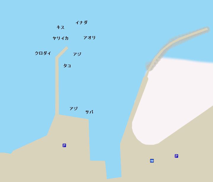 平沢港ポイント図