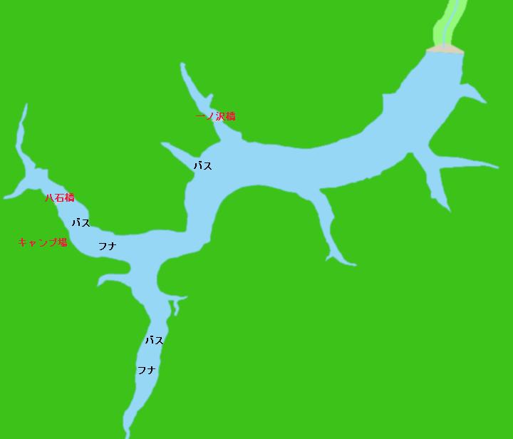 鳳来湖(宇連ダム)ポイント図