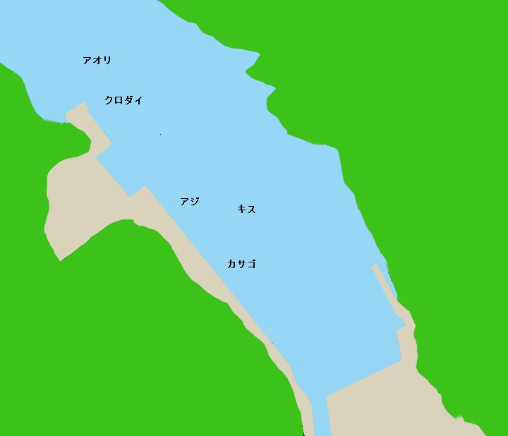 石廊崎港ポイント図