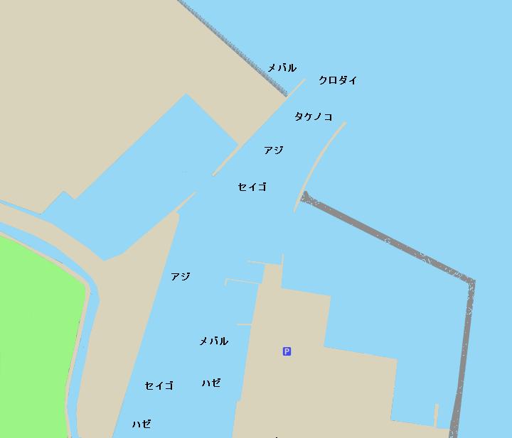 一色漁港ポイント図
