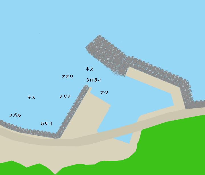 伊豆山港ポイント図