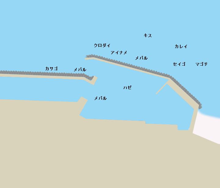 蒲池漁港ポイント図