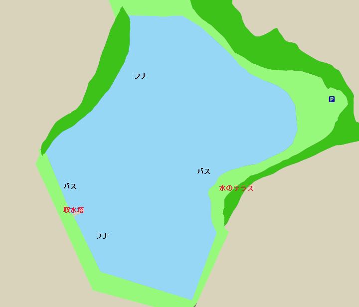 加木屋大池ポイント図