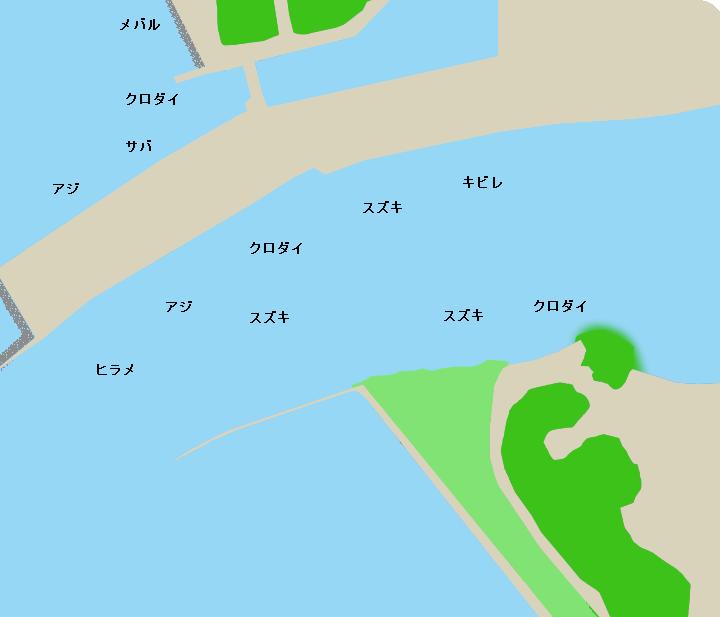 狩野川河口ポイント図