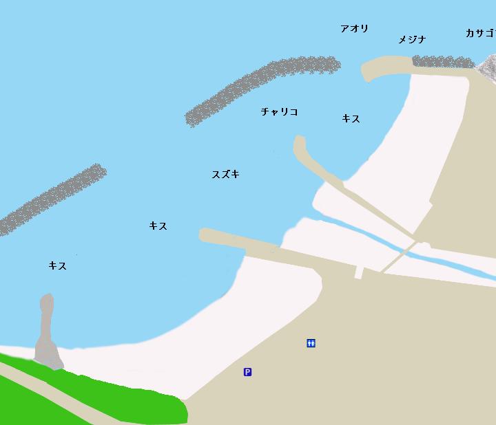 小土肥海岸ポイント図