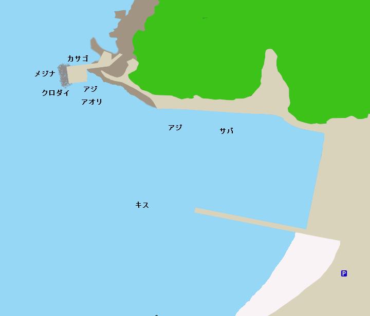 小稲港ポイント図