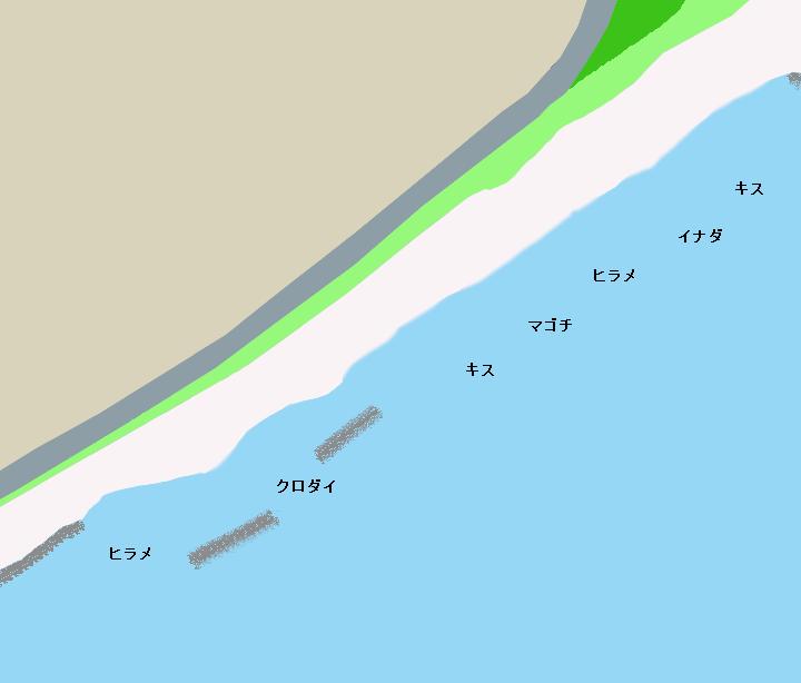 駒越海岸ポイント図