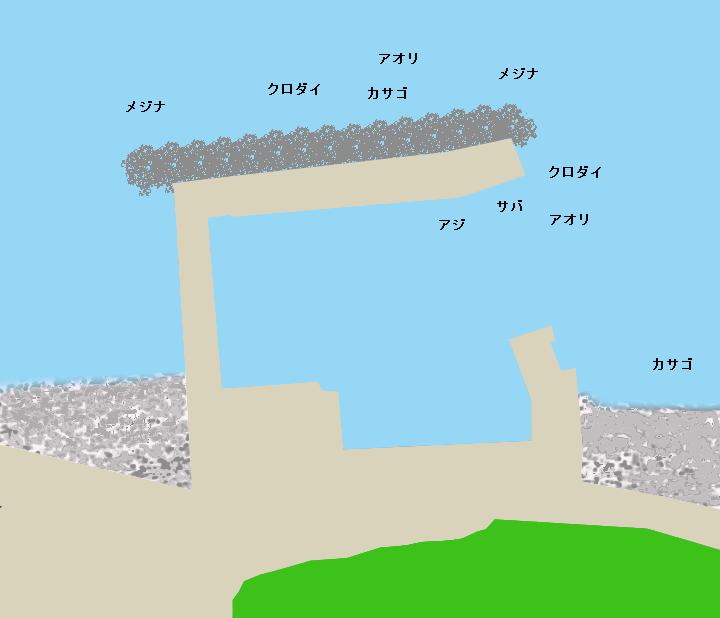 米崎港ポイント図