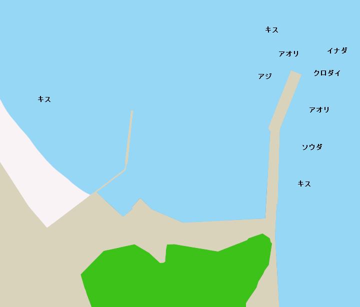 子浦港ポイント図