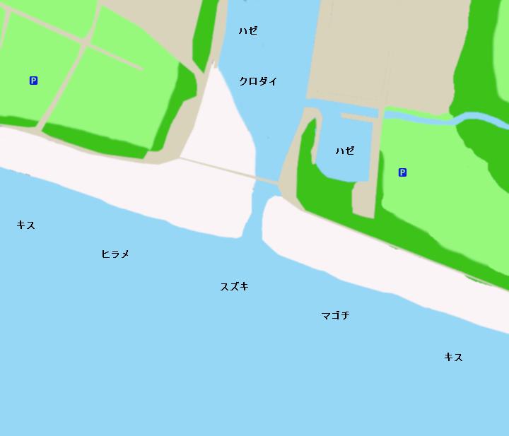 国安海岸ポイント図