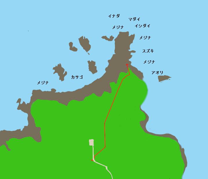 廻り崎ポイント図