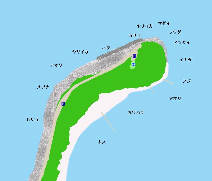 御浜崎ポイント図