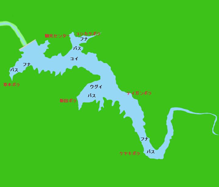 三河湖(羽布ダム)ポイント図