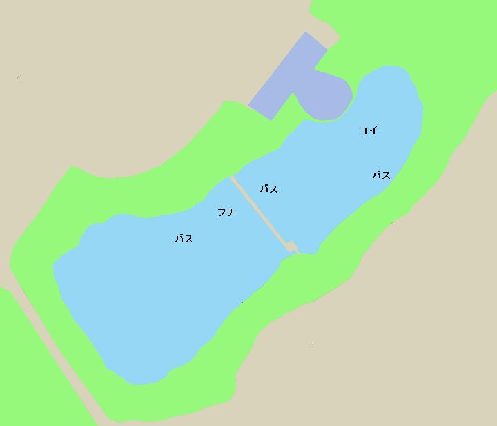 向山大池ポイント図
