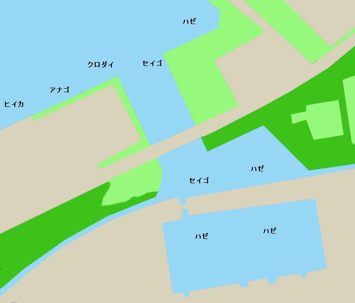 鍋田避難港ポイント図
