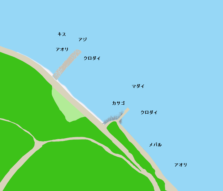 長井崎ポイント図
