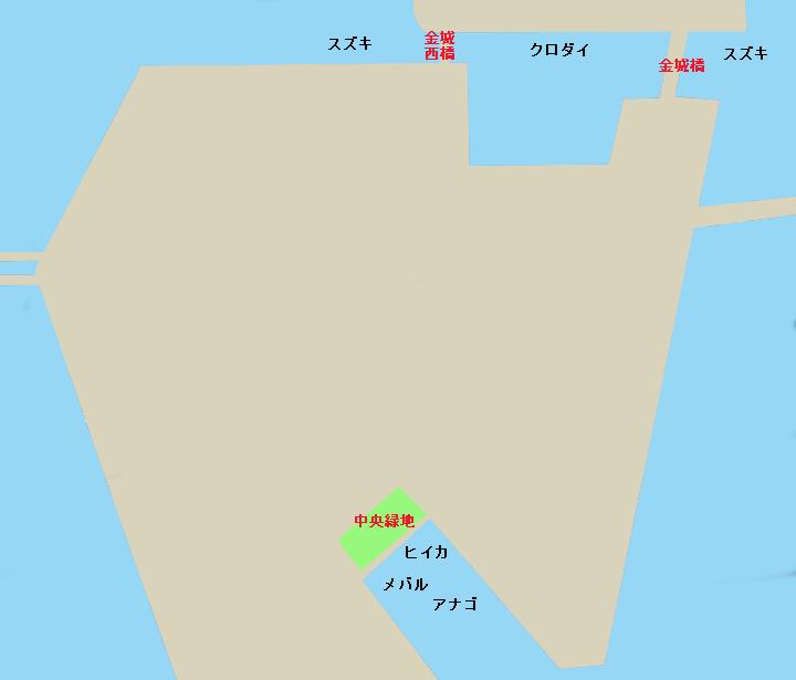 名古屋港金城ふ頭ポイント図