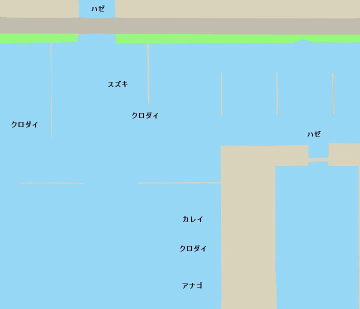 名港西4区貯木場付近ポイント図