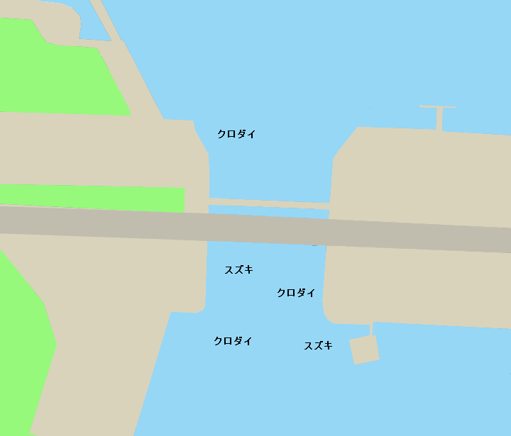 名古屋港潮見橋周辺ポイント図