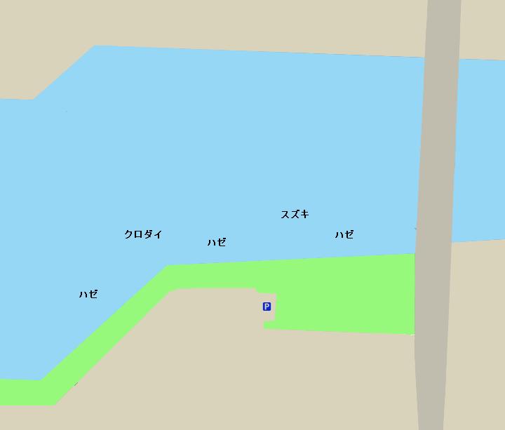 天白川河口ポイント図