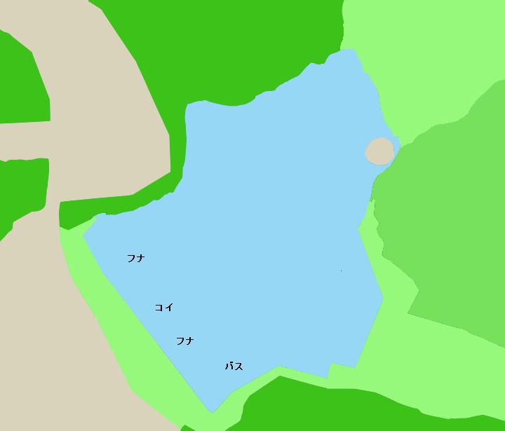 猫ヶ洞池ポイント図