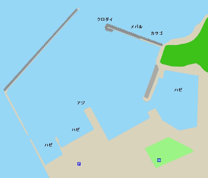 西幡豆漁港ポイント図