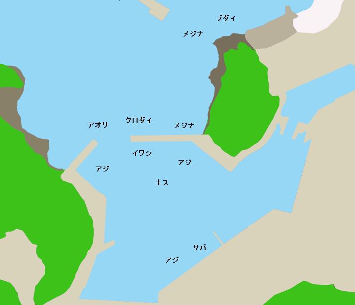 仁科港ポイント図