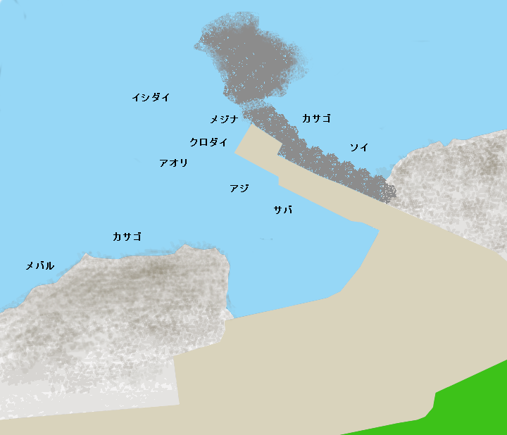 大川港ポイント図